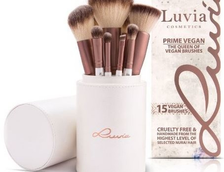 Luvia Cosmetics – Prime Vegan Pinselset – 16 tlg. Kosmetikpinsel Set